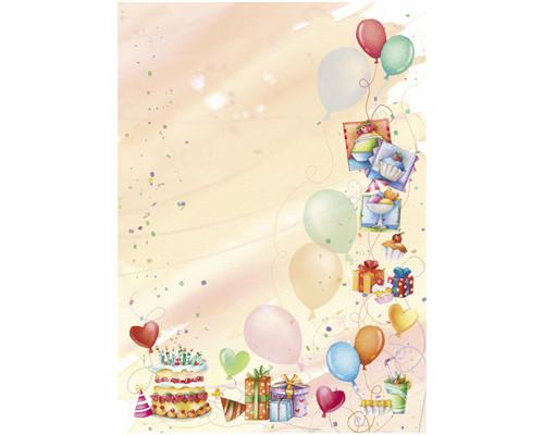 Бумага с готовым изображением TSC6770 Дизайн-бумага Вечеринка (А4,90г,уп.20
