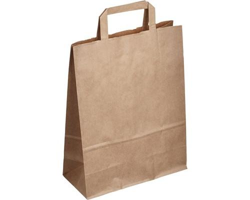 Пакеты из крафт-бумаги Сумка 25+11*32 см с плоской ручкой
