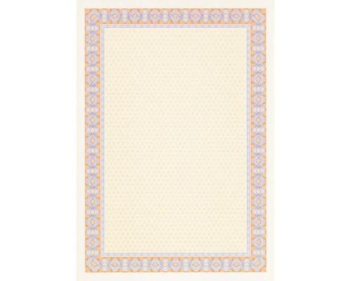 Сертификат-бумага DC-OSD4053 сине-оранж. рамка (А4,115г,уп.25л.)