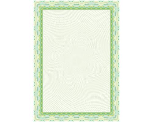 Сертификат-бумага DC-OSD4020 зеленый,спираль (А4,115г,уп.25л.)