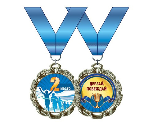 Медаль металлическая 2 место 58.53.002