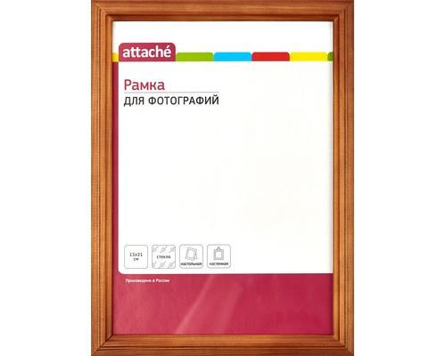 Рамка А5(15х21)ATTACHE темная сосна, деревянный багет, н/н