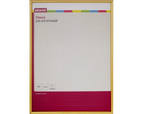Рамка А3(30х40)ATTACHE золотая, пластиковый багет 10мм, настен.