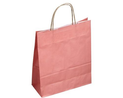 Пакеты из крафт-бумаги Сумка Розовая 25+11*32 см