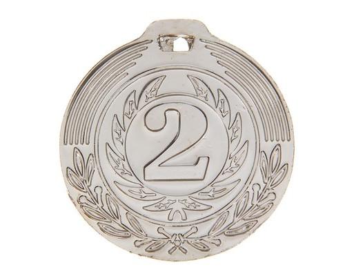 Медаль 021 диам 4 см. 2 место. Цвет сер 1108662