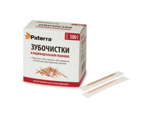Зубочистки деревянные, 500 шт. в коробке, PATERRA 401-451