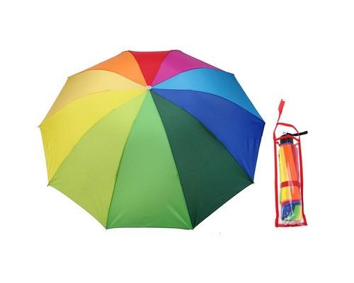 Зонт механический Радуга, ветроустойчивый 653116