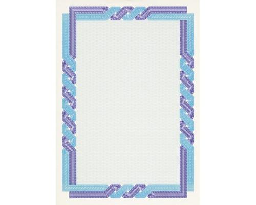 Сертификат-бумага DC-OSD4058 сине-голуб. кручен рамка (А4,115г,уп.25л.)