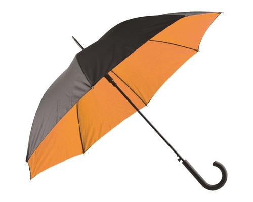 Зонт трость Гламур, оранжевый/черный 907178