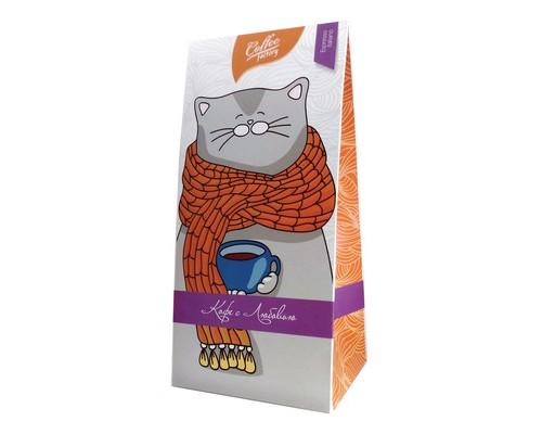 Кофе молотый CAFFE GUSTOв п/у фиолет/кот 0,250 кг.