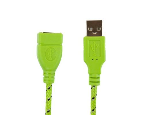 Кабель USB2.0(А-А) удлинитель 3м,зеленый (ПР030632)