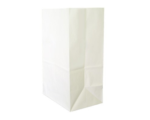 Пакеты из крафт-бумаги (без ручек,цвет белый 18+12x29, 90 г/м2)