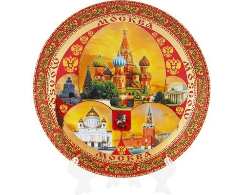 Сувенир Тарелка 15 см.5 в 1Москва 900065