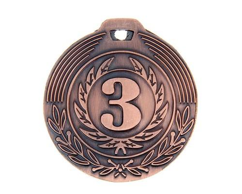 Медаль 021 диам 4 см. 3 место. Цвет бронз 1108663