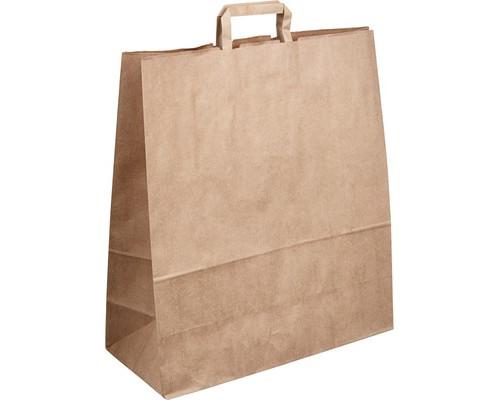 Пакеты из крафт-бумаги Сумка 43,5+18*48 см с плоской ручкой