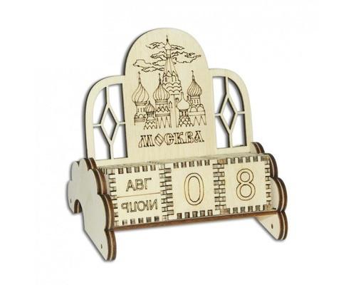 Сувенир вечный календарь Москва (деревянный, ) ВК-04