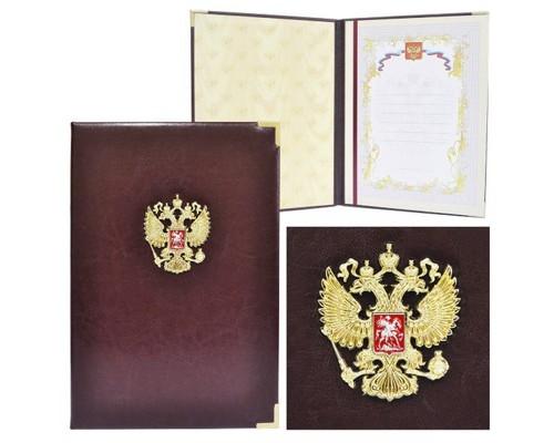 Папка адресная Папка мягкая Герб РФ со вставкой ПП-02/3