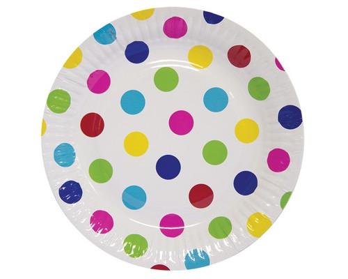Набор тарелок бум Горошек мульти 17см 6шт/G 1502-1736