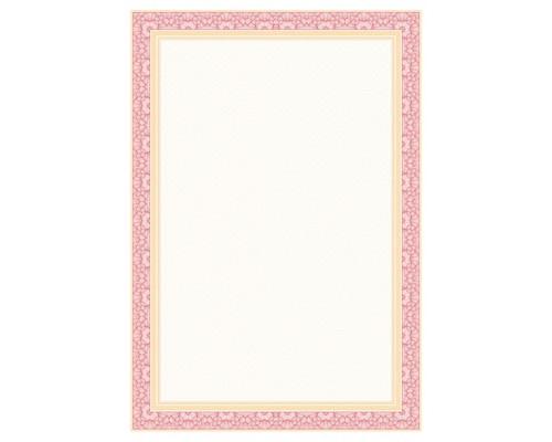 Сертификат-бумага Attache красная рамка (А4,115г,уп.25л.)