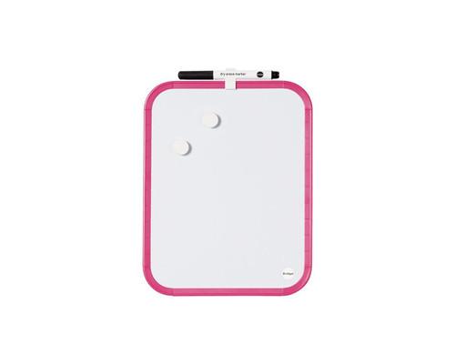 Доска магнитно-маркерная Bi-Office 21.6x27.9 см лаковое покрытие планшет розовая рама - (273238К)