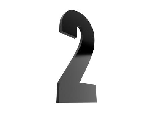 Табличка с номером 2 на клеящейся основе - (529747К)