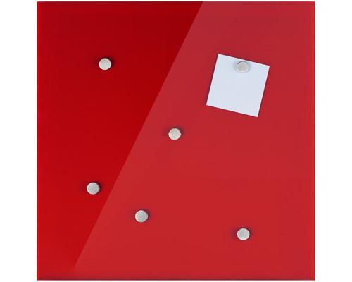 Доска стеклянная маркерная Hama Belmuro 48х48 см красная - (272009К)