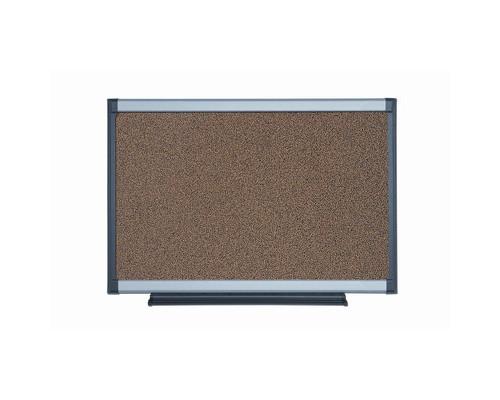 Доска пробковая Bi-Office 90х120 см алюминиевая рама - (270027К)