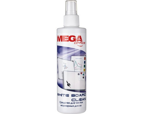 Спрей для очистки маркерных досок Mega Office White Board Clean 250 мл - (134430К)