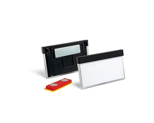 Бейджик с магнитным зажимом для карточек Durable 30х60 мм 25 штук - (310321К)