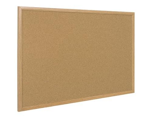 Доска пробковая Bi-Office 100x150 см деревянная рама - (218304К)