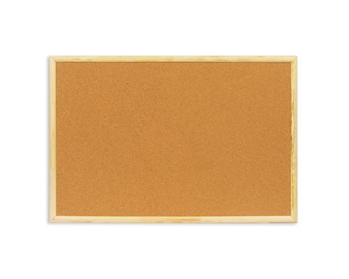 Доска пробковая Attache 60х90 см деревянная рама - (51859К)