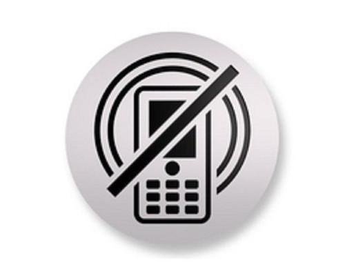 Информационная табличка настенная Не разговаривать по телефону 85 мм на скотче - (561108К)