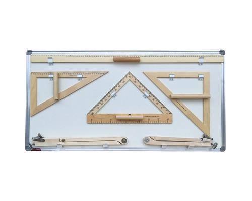 Набор чертежных принадлежностей для магнитно-маркерных досок Эко деревянный - (521927К)