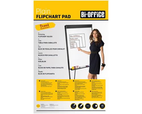 Бумага для флипчартов Bi-Office 65x98 см белая 20 листов 70 г/кв.м - (218326К)