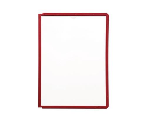 Панель для демосистемы Durable Sherpa А4 красная 5 штук - (115656К)
