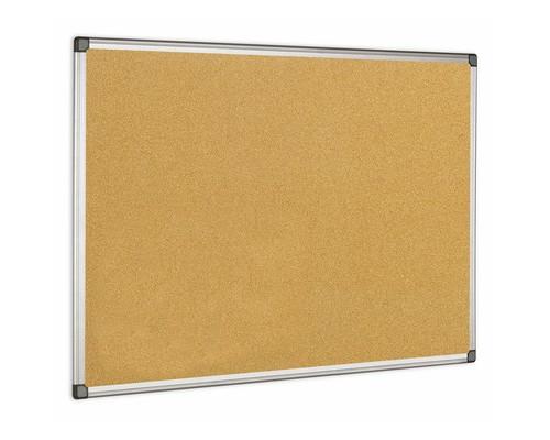 Доска пробковая Bi-Office 100х150 см алюминиевая рама - (218299К)