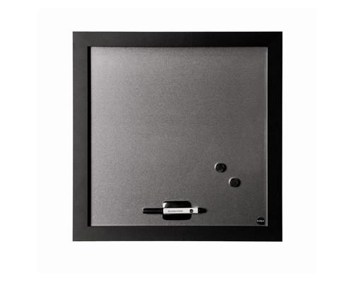 Доска магнитно-маркерная Bi-Office 45x45 см черная рама - (270020К)