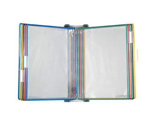 Демосистема настенная Tarifold 10 панелей А4 цвета в ассортименте - (87659К)
