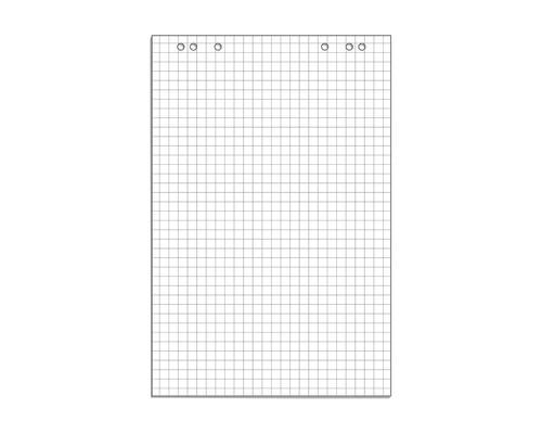 Бумага для флипчартов Attache 67.5х98 см белая 10 листов в клетку 80 г/кв.м - (445517К)