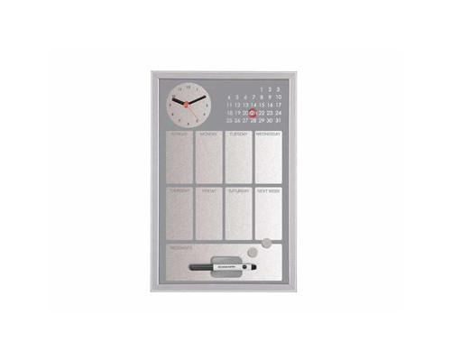 Доска магнитно-маркерная Bi-Office 30x45 см часы серый - (270022К)