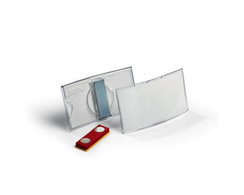 Бейджик с магнитным зажимом для карточек Durable 40х75 мм 25 штук - (310322К)