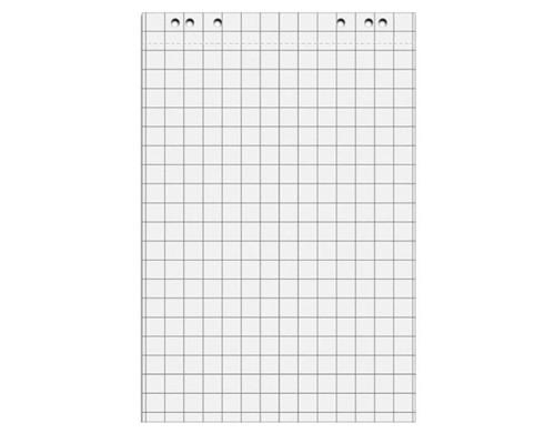 Бумага для флипчартов Attache 67.5х98 см белая 20 листов в клетку 80 г/кв.м 5 блоков - (275159К)