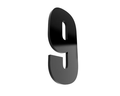 Табличка с номером 9 на клеящейся основе - (529754К)