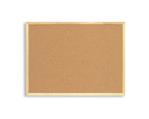 Доска пробковая Attache 100х150 см деревянная рама - (87618К)