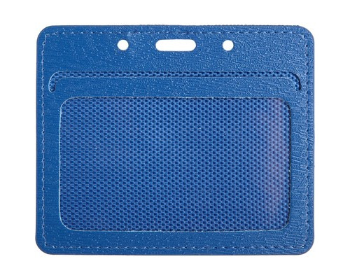 Бейджик горизонтальный ProMega Office мягкий синий для карточек 90x54 мм - (541216К)