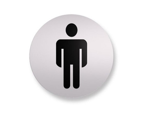 Информационная табличка настенная Туалет Мужской 85 мм на скотче пластик - (561103К)