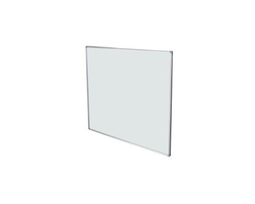 Доска магнитно-маркерная 1-элементная BoardSYS 60x90 см лаковое покрытие алюминиевая рама с полочкой - (358645К)