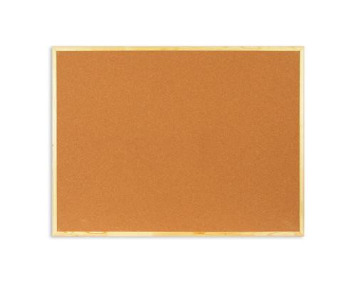 Доска пробковая Attache 90х120 см деревянная рама - (51860К)