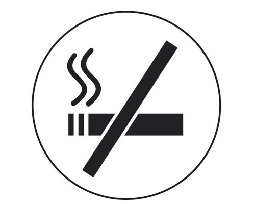 Информационная табличка Attache настенная Smokers-No алюминевая 85 мм - (219387К)