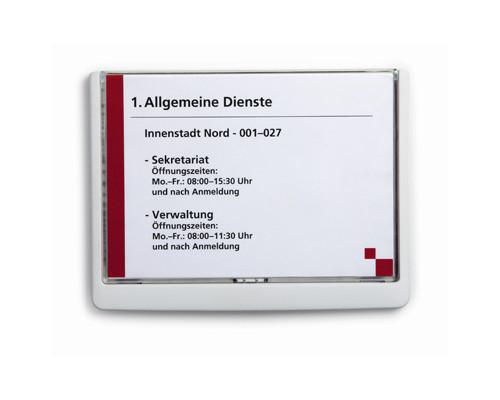 Информационная табличка настенная Durable 21х15 см белая пластик-акрил - (273401К)